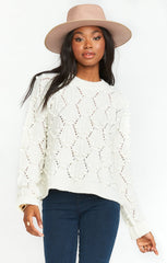 sausalito sweater ~ buttercream knit