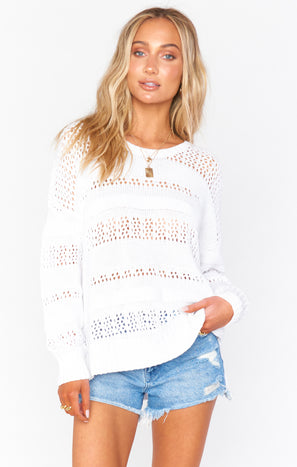 Yala Sweater ~ White Knit
