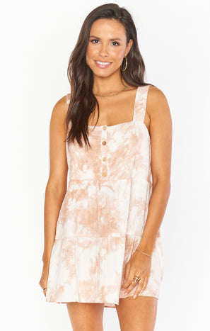 Marisa Dress ~ Twisted Tie Dye Tan