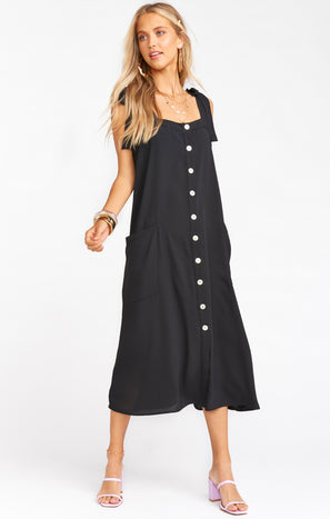 Lucas Midi Dress ~ Black