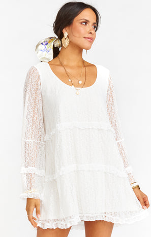 Mansfield Mini Dress ~ Rodeo Floral Lace White