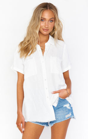 Antonelli Top ~ White Linen