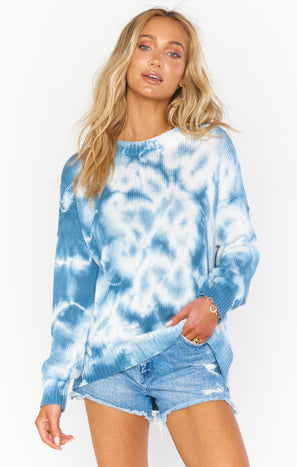 Sunday Sweater ~ Navy Tie Dye