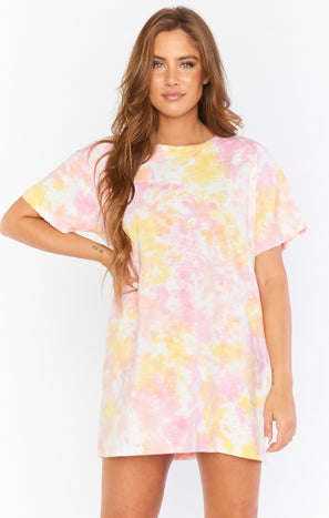 Yuma T Shirt Dress ~ Sunny Tie Dye