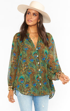 Alicia Tunic ~ Original Peacock