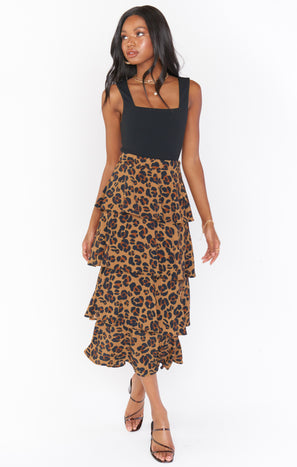 Full Swing Skirt ~ Caramel Cheetah