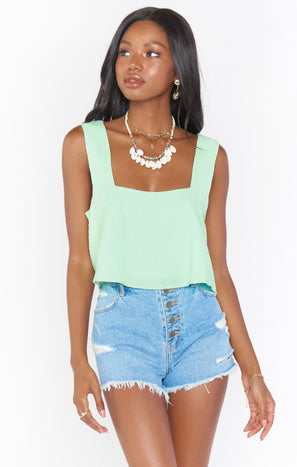 Tara Crop Top ~ Green Melon
