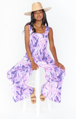 Summerland Jumpsuit ~ Purple Tie Dye