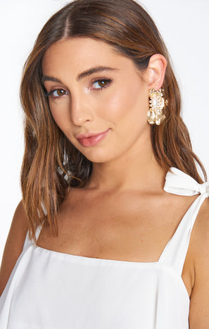 Majestic Floral Earrings ~ Gold