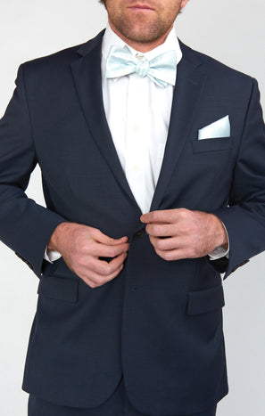 Sam Pocket Square ~ Icy Blue Solid