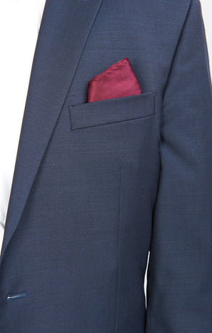 Sam Pocket Square ~ Merlot Solid