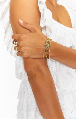 Shani Bracelet Set ~ Gold
