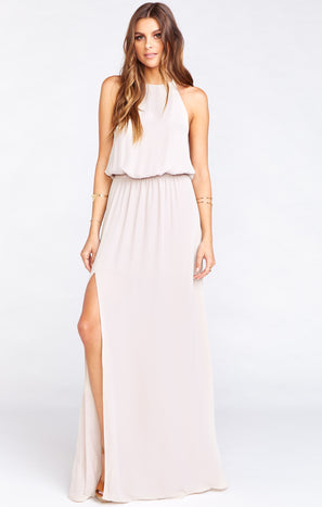 Heather Halter Dress ~ Show Me the Ring Crisp