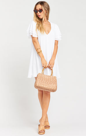 Disick Dress ~ White Chiffon