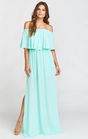 Hacienda Maxi Dress ~ Sea Glass Crisp