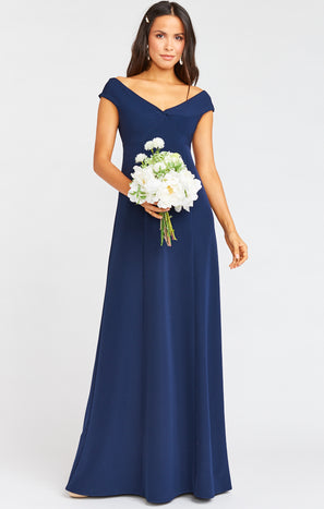 Zurich Knot Gown ~ Rich Navy Stretch Crepe