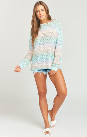 Pie in the Sky Sweater ~ Rainbow Sorbet