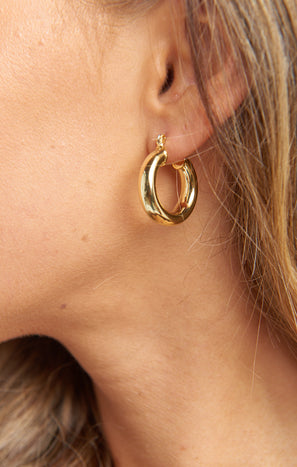 LUV AJ Baby Amalfi Tube Hoops ~ 14K Plated Gold