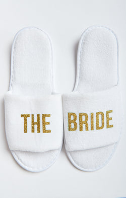 The Bride Slippers ~ White