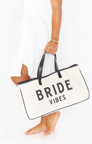 Bride Vibes Canvas Tote ~ Natural