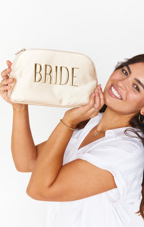 Bride Cosmetic Bag ~ Champagne