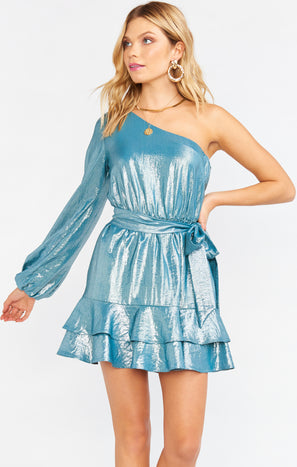 Show Stopper Dress ~ Blue Shine