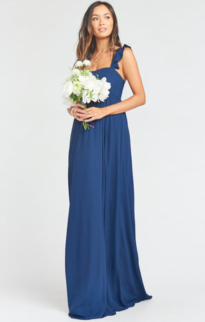 June Maxi Dress ~ Rich Navy Crisp