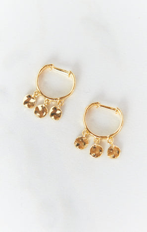 Gorjana Chloe Mini Huggie Earrings ~ 18K Gold Plated