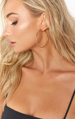 Everyday Thin Hoops ~ Gold