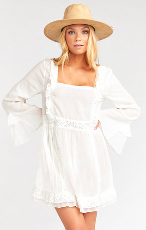 Sicily Mini Dress ~ White