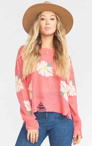 Seco Sweater ~ Lovey Floral Knit