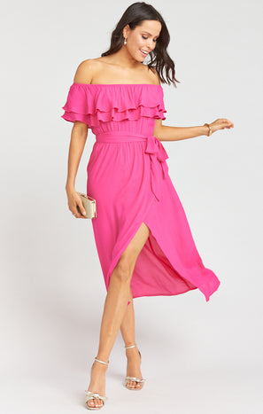 Rosie Dress ~ Hot Pink