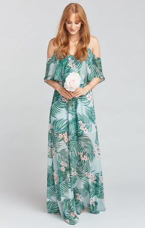 Caitlin Ruffle Maxi Dress ~ Hanalei Dream