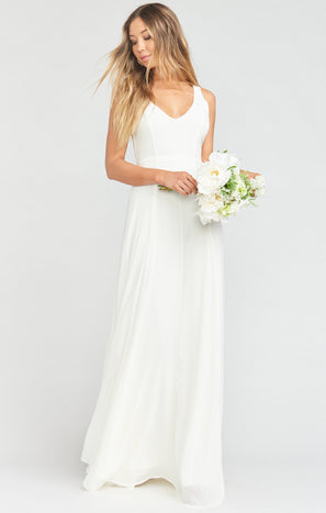 Jenn Maxi Dress ~ Wedding Cake Chiffon