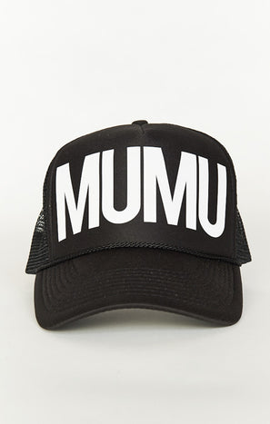 Mumu Trucker Hat ~ Black/White