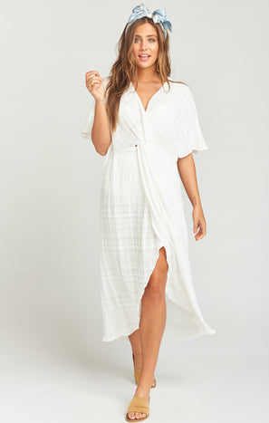 Get Twisted Maxi Dress ~ Sand Dollar Gauze