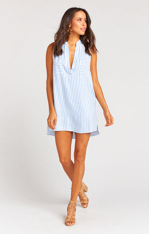 Wendy Tunic Dress ~ Anchor Stripe