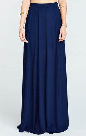 Princess Ariel Maxi Skirt ~ Rich Navy Crisp