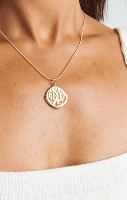 Child of Wild Cori Coin Necklace ~ 18K Gold Filled