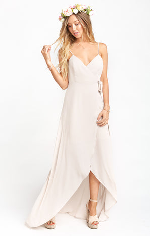 Mariah Wrap Dress ~ Show Me the Ring Crisp