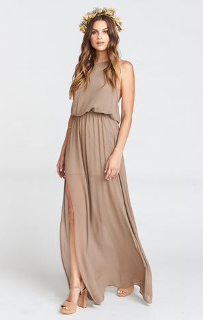 Heather Halter Dress ~ Dune Chiffon