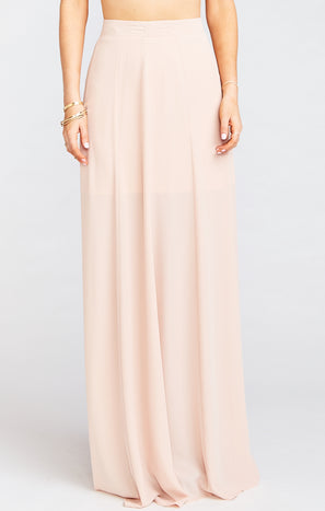 Princess Ariel Maxi Skirt ~ Dusty Blush Crisp