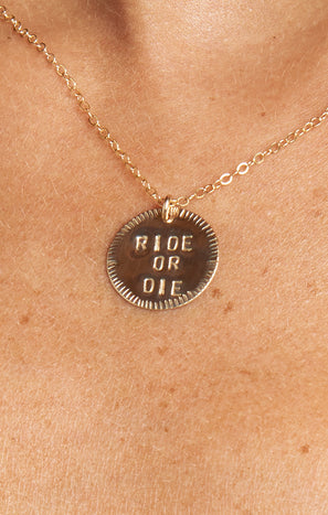 Paradigm Ride or Die Necklace ~ Gold