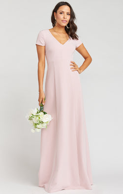 Geneva Gown ~ Vintage Rose Stretch Crepe