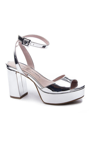 Theresa Heels ~ Silver Metallic