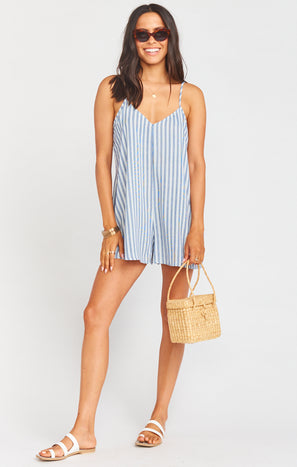 Rascal Romper ~ She Sails Stripe