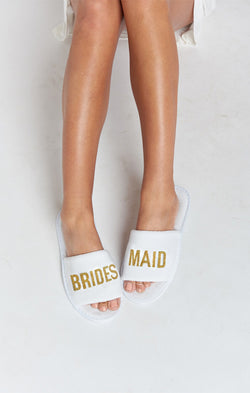 Brides Maid Slippers ~ White