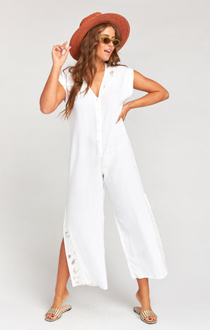Aussie Jumpsuit ~ Lace Embroidery