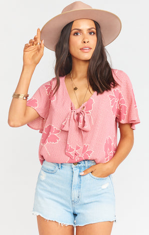 Flutter Top ~ Lovey Floral