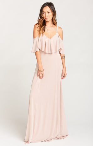 Renee Ruffle Maxi Dress ~ Dancing Queen Shine Blush